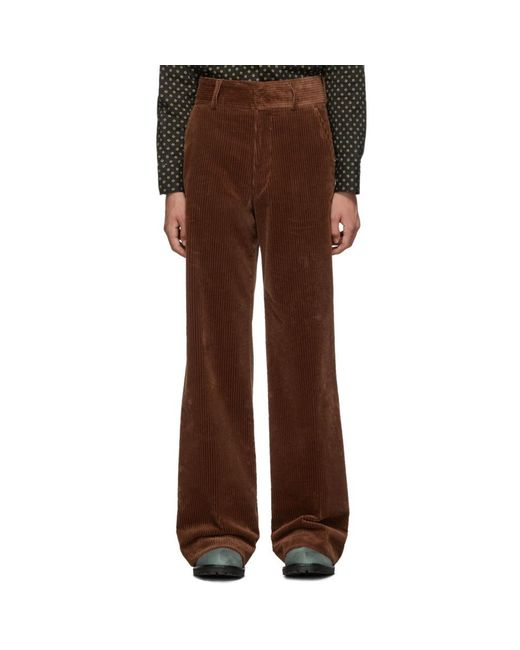 Dries Van Noten Brown Prell Trousers for men