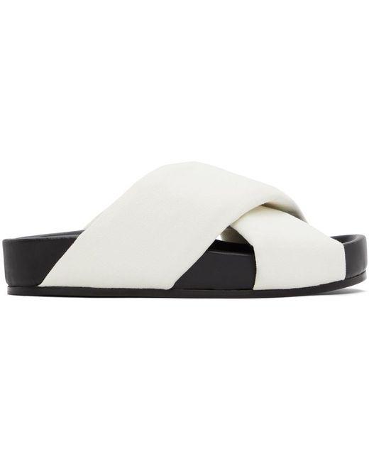 Jil Sander ホワイト オーバーサイズ Wrapped サンダル White