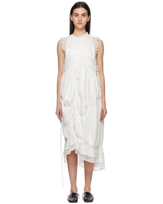 Renli Su ホワイト マルベリー シルク ドレス White