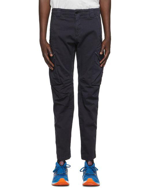 メンズ C P Company ネイビー Garment-dyed Utility カーゴ パンツ Blue