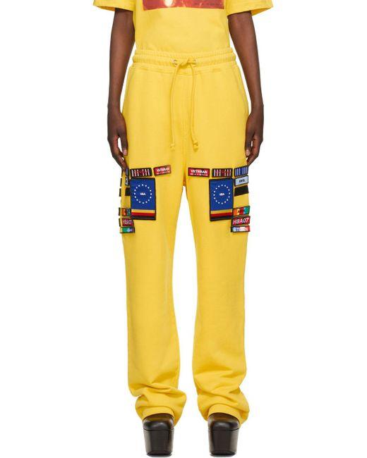 Pantalon de survêtement No.2 jaune 'Veteran' Hood By Air en coloris Yellow