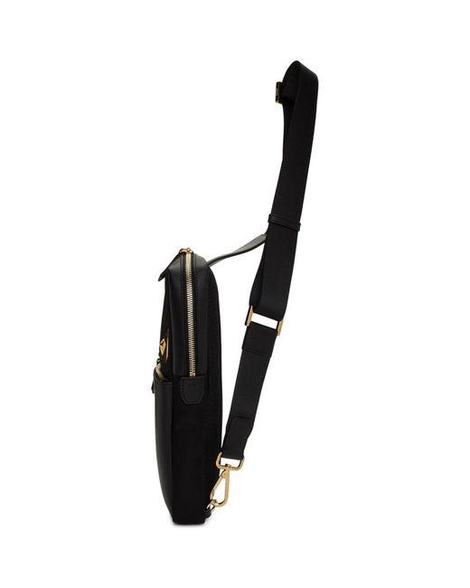 c1fbf8533eb ... Fendi - Black Bag Bugs Golden Messenger Bag for Men - Lyst ...