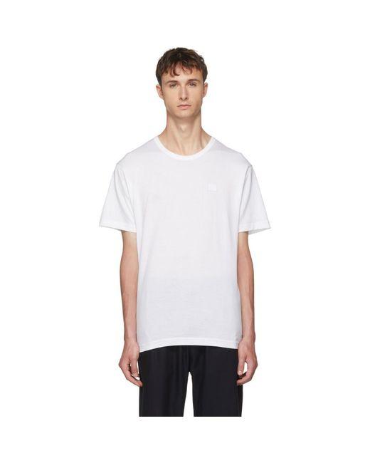 メンズ Acne ホワイト Nash Face T シャツ White