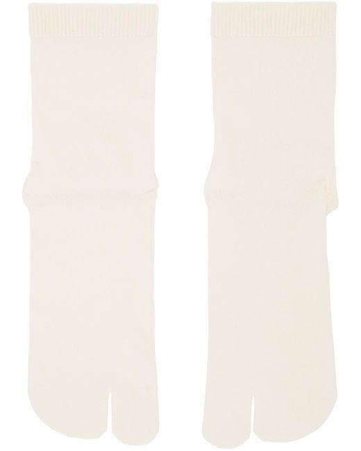 メンズ Maison Margiela オフホワイト Tabi 足袋 ソックス White