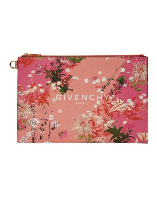 Givenchy ピンク Paris フラワー ポーチ Pink