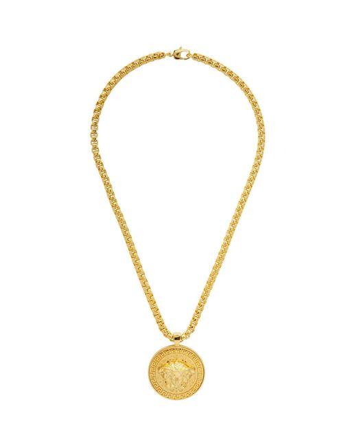 Versace ゴールド メドゥーサ ネックレス Metallic