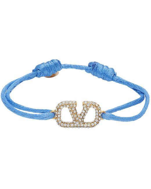 Valentino Garavani コレクション ブルー Vlogo ブレスレット Blue