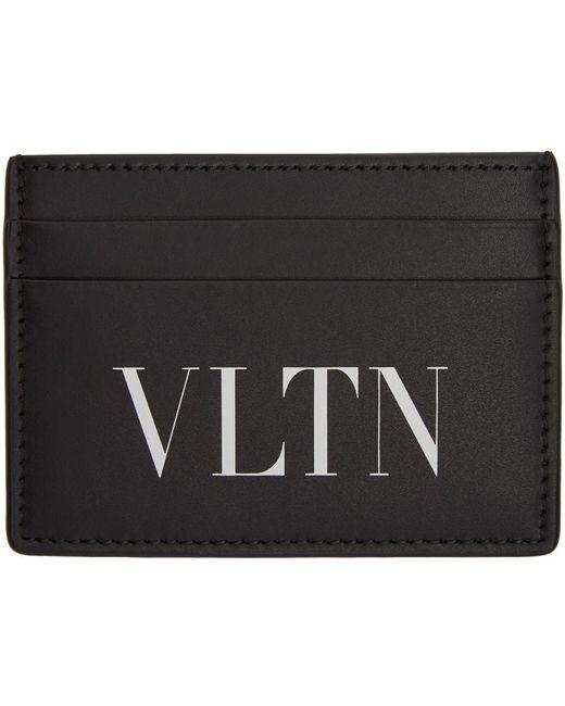メンズ Valentino Garavani コレクション ブラック & ホワイト Vltn カード ケース Black