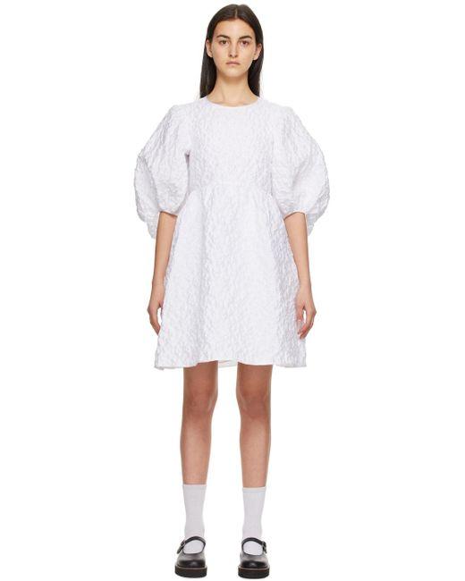 CECILIE BAHNSEN Ssense 限定 ホワイト Mabel ドレス White