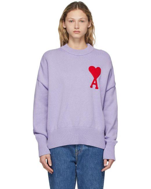 AMI パープル オーバーサイズ Ami De Coeur セーター Purple