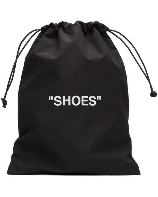 Off-White c/o Virgil Abloh ブラック & ホワイト Shoes ポーチ Black