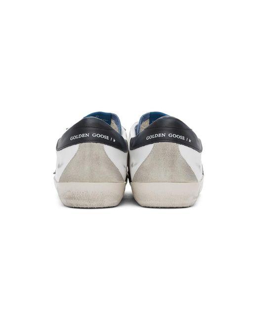 メンズ Golden Goose Deluxe Brand ホワイト And ブルー Superstar スニーカー White