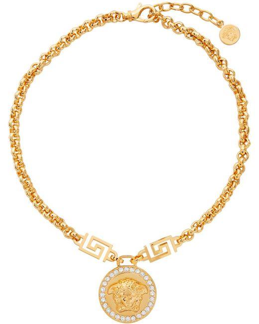 Versace ゴールド Medusa ネックレス Multicolor