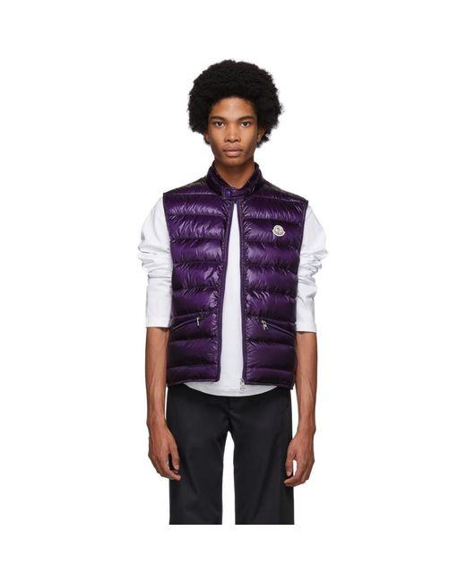 Moncler Purple Down Gui Vest for men