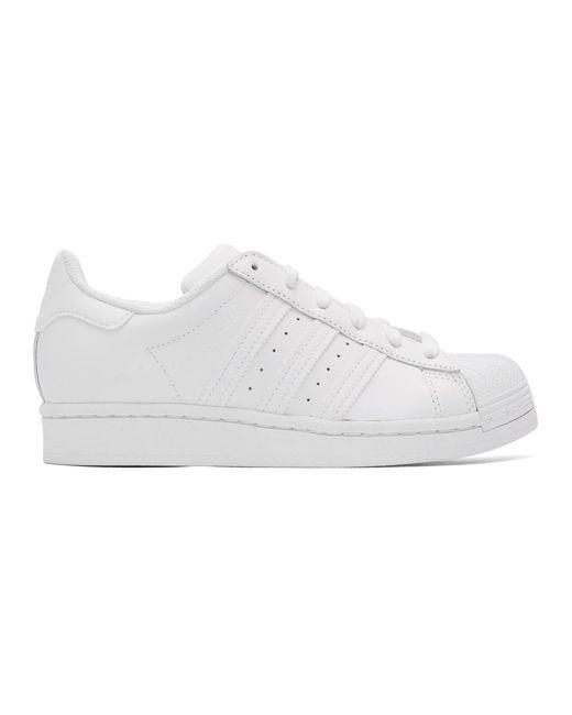 Adidas Originals ホワイト スーパースター スニーカー White