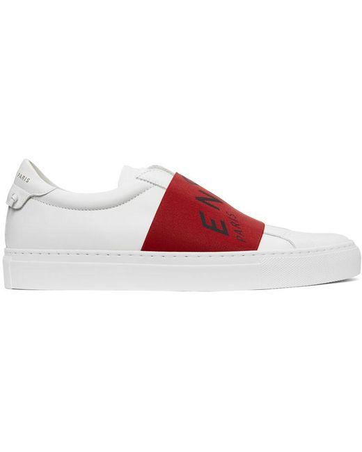 メンズ Givenchy ホワイト & レッド Urban Knots スニーカー Red