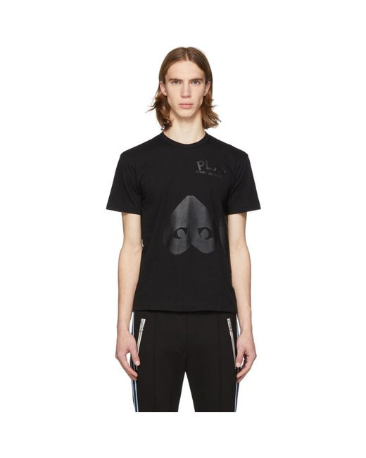 COMME DES GARÇONS PLAY Black Upside Down Heart T-shirt for men