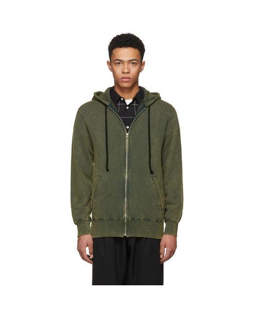 Comme des Garçons - Green Zip-up Hoodie for Men - Lyst