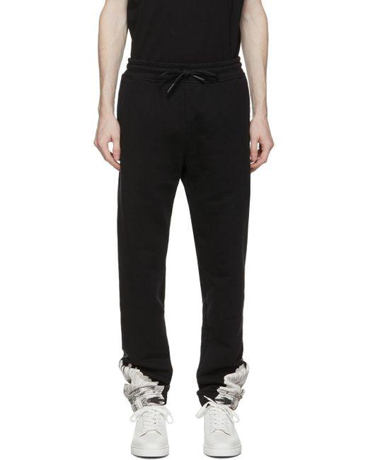 メンズ Marcelo Burlon ブラック & ホワイト Wings トラック パンツ Black
