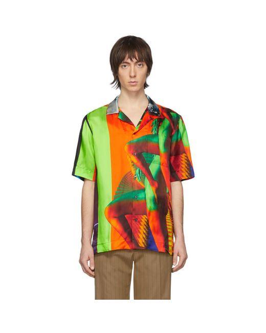 メンズ Dries Van Noten Mika Ninagawa Edition マルチカラー ポケット シャツ Multicolor