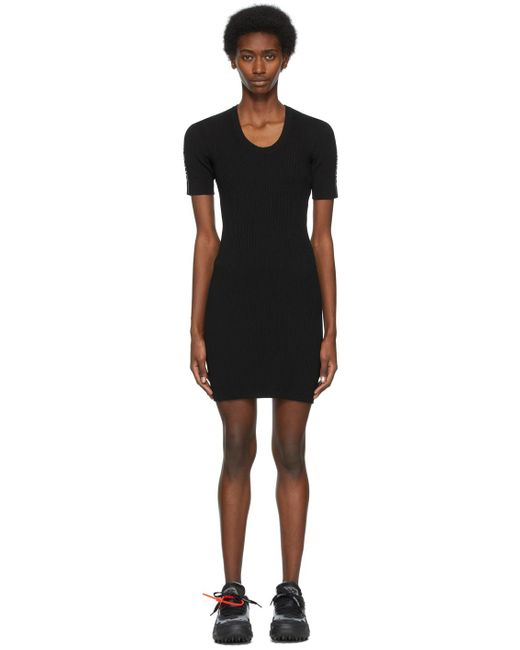 Off-White c/o Virgil Abloh ブラック ロゴ ドレス Black