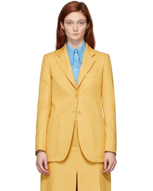 Stella McCartney イエロー リサイクル アマンダ テーラード ジャケット Yellow