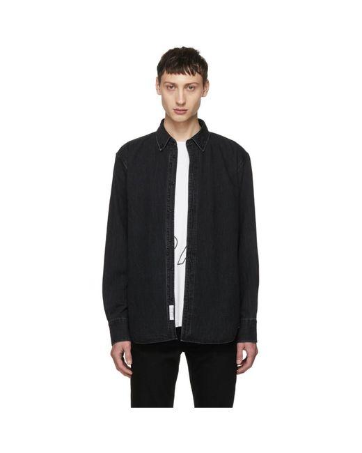 Rag & Bone - Black Faded Denim Shirt for Men - Lyst