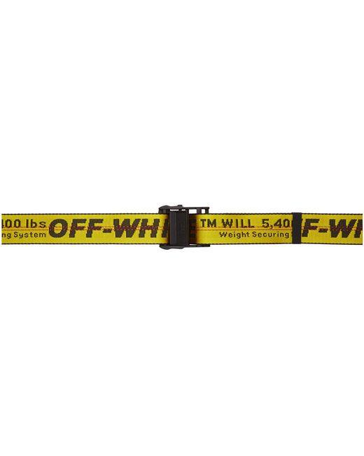 Off-White c/o Virgil Abloh Yellow Industrial Belt for men