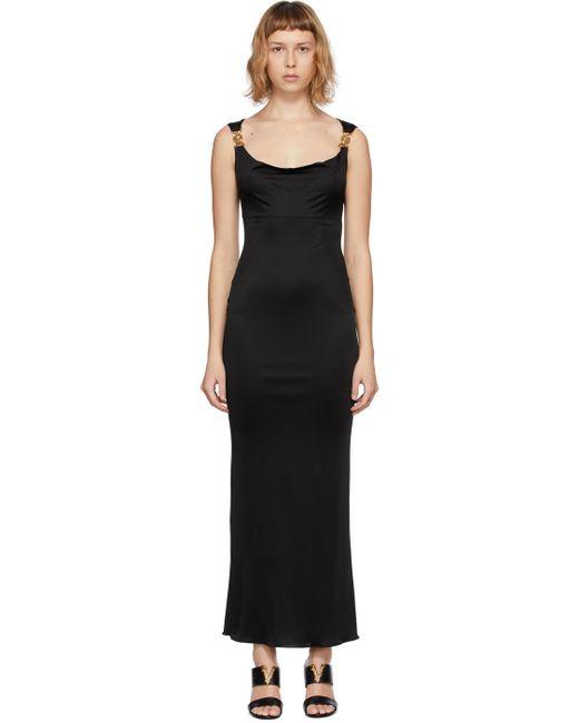 Versace ブラック Medusa イブニング ドレス Black