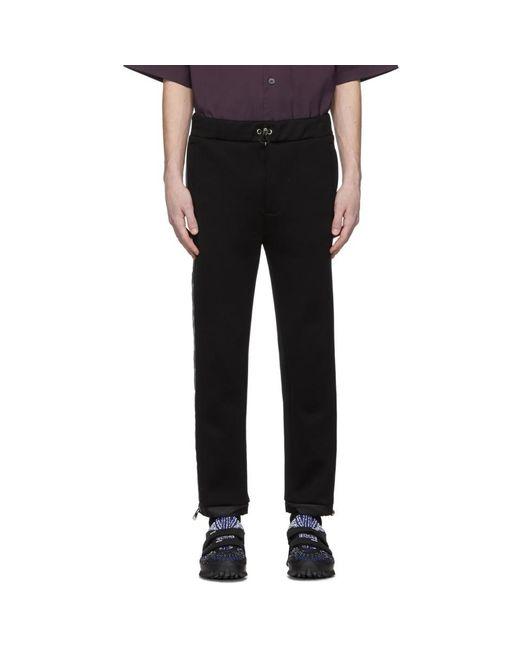 メンズ Prada ブラック テクニカル コットン トラウザーズ Black