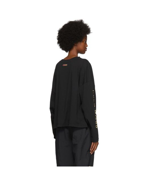 REEBOK X PYER MOSS Black Pocket Long Sleeve T-shirt