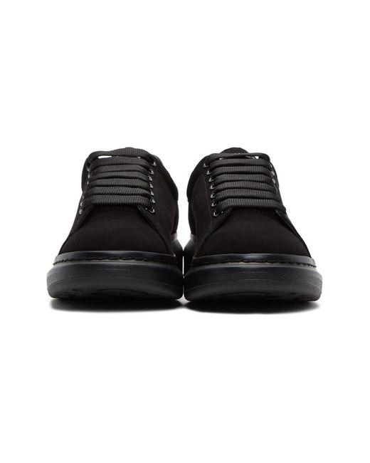 le dernier e2a91 1a230 Alexander McQueen Rubber Black Nubuck Daim Velour Oversized ...