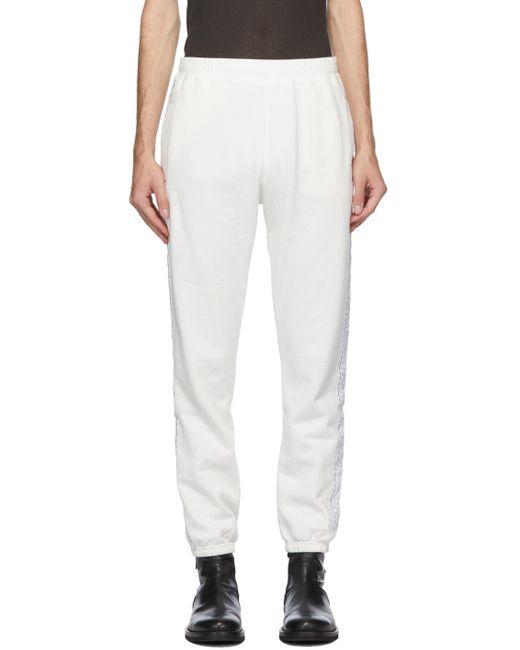 メンズ Haider Ackermann オフホワイト ロゴ テープ Perth ラウンジ パンツ White