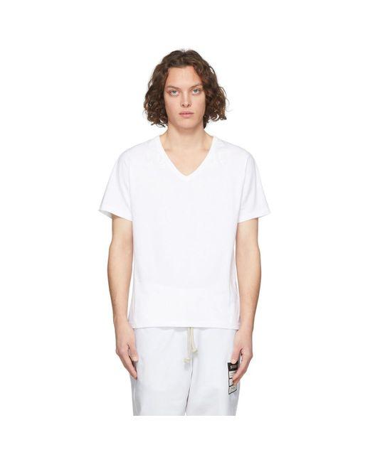 メンズ Maison Margiela ホワイト Aids チャリティー T シャツ White