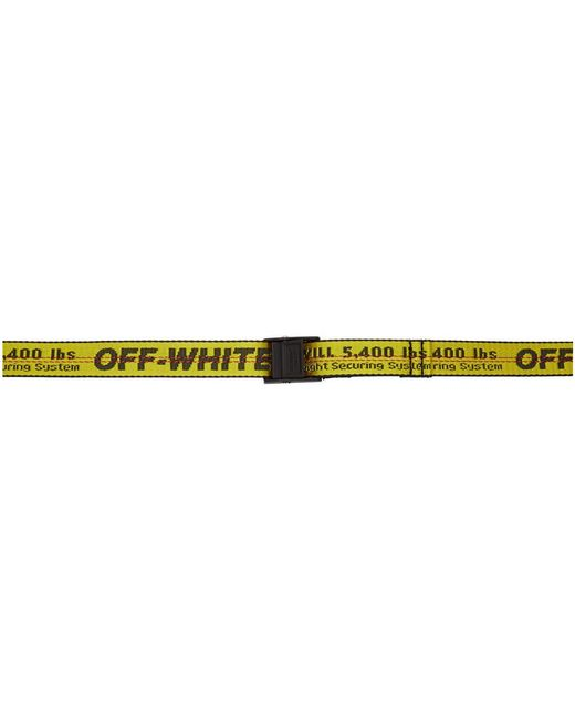 Off-White c/o Virgil Abloh Yellow And Black Mini Industrial Belt