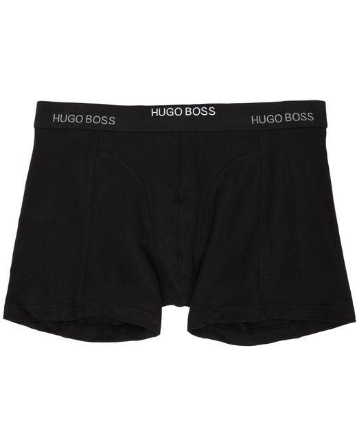 メンズ BOSS by Hugo Boss ブラック & ホワイト チェック ボクサー ブリーフ 2 枚セット White