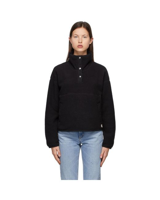The North Face Black 1/4 Snap Cragmont Sweater