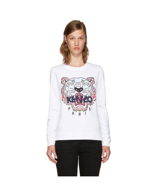 KENZO - White Limited Edition Tiger Sweatshirt - Lyst