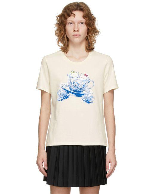 Undercover Hello Kitty エディション オフホワイト グラフィック T シャツ Multicolor