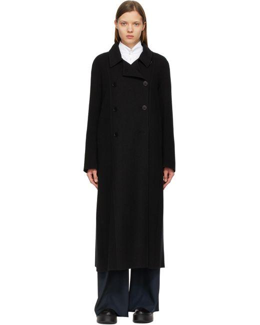 The Row ブラック カシミア Cilona ダブルブレスト コート Black
