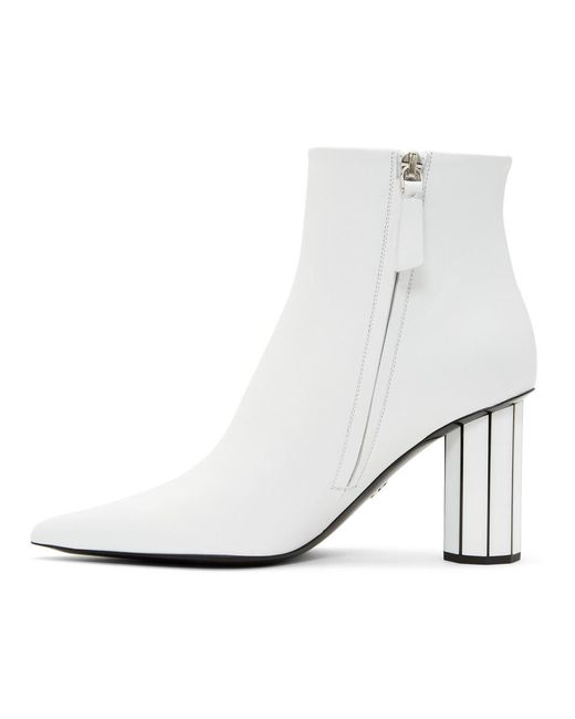 White Pointy Faceted Heeled Boots Proenza Schouler Order Outlet Store Free Shipping Sale Top Quality Cheap Online Shopping Online Cheap Price JbBXU