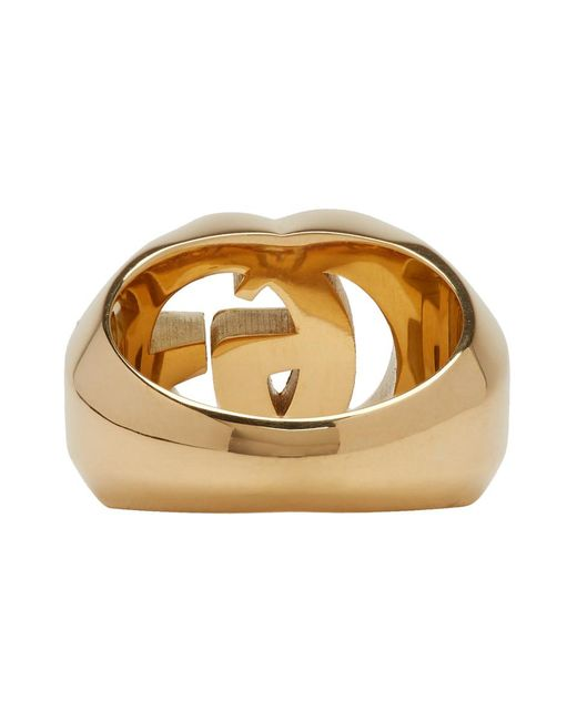 47c96c19d1b9 ... Gucci - Metallic Gold GG Running Ring for Men - Lyst ...