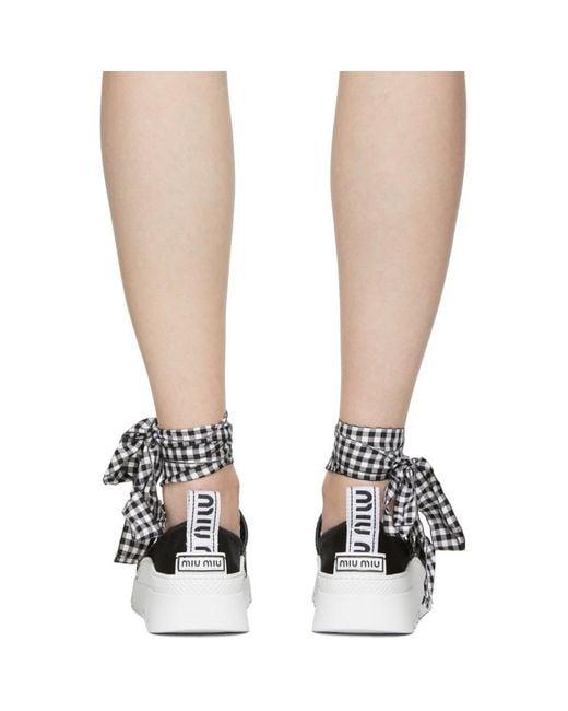 Miu Miu Double Band Ribbon Sneakers fiUl73u