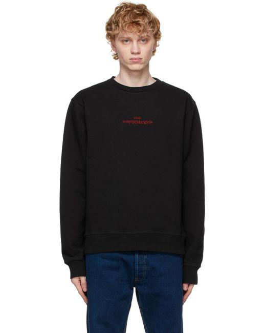 メンズ Maison Margiela ブラック ロゴ スウェットシャツ Black