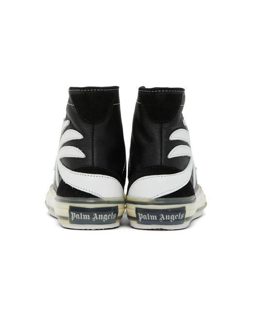 メンズ Palm Angels ブラック Palm バルカナイズ ハイ スニーカー Black