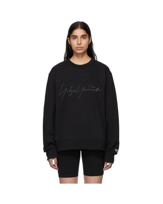 Y-3 ブラック シグネチャ グラフィック スウェットシャツ Black