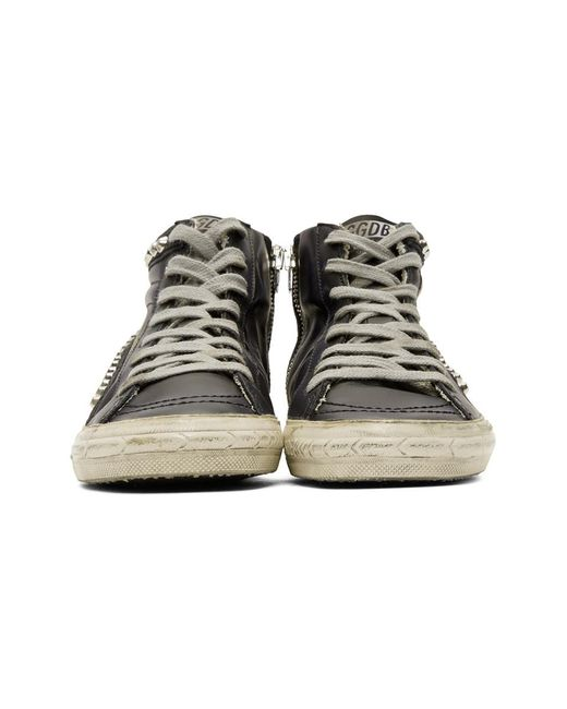 best sneakers 46ee3 b6335 golden-goose-deluxe-brand-black-Black-Leather-Studded-Slide-Sneakers.jpeg