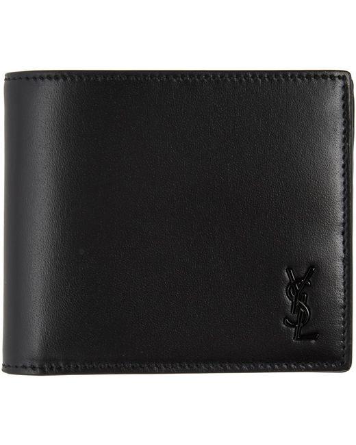 Saint Laurent Black Tiny Monogram East/west Wallet for men