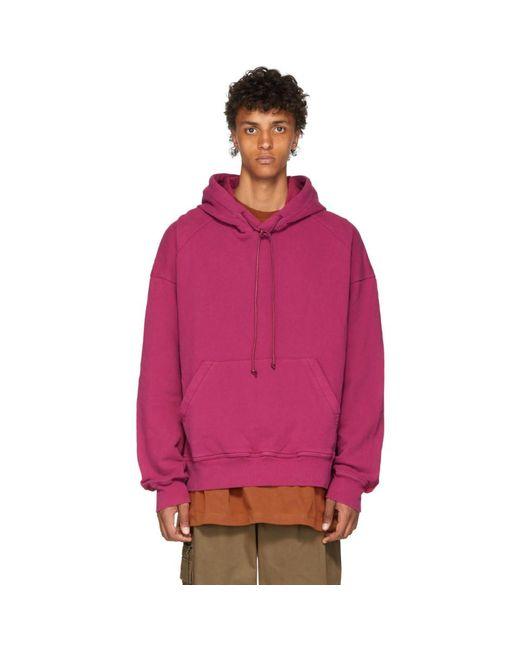 Juun.J - Pink Panelled Hoodie for Men - Lyst
