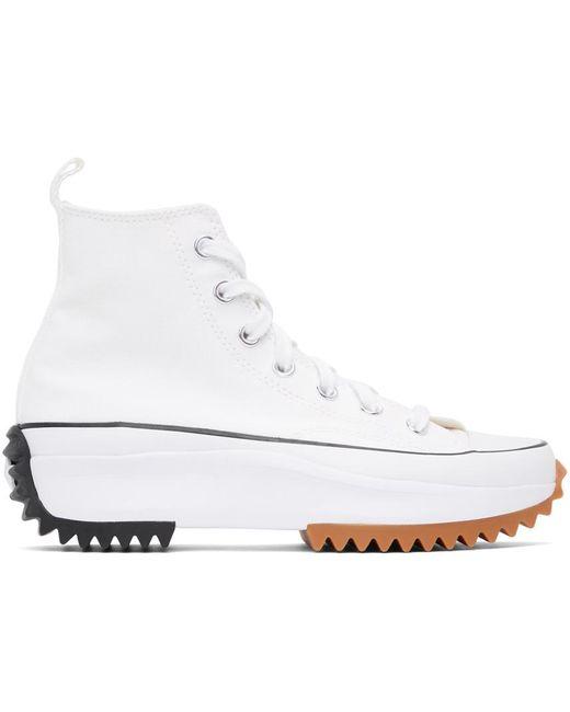 Converse ホワイト Run Star Hike ハイ スニーカー ウィメンズ White